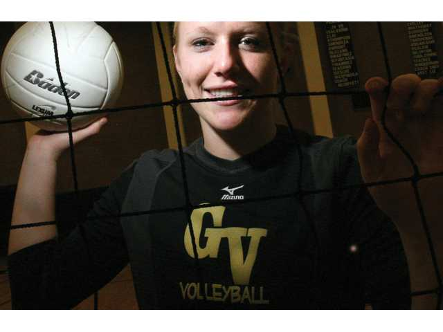 Golden Valley High senior Sam Holcombe grew up playing ice hockey, but when her schedule became too busy, she opted to stick with volleyball. Holcombe leads the Grizzlies in kills and is always open to finding ways to improve her game.