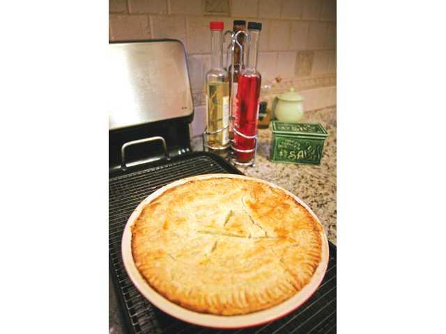 Tim's favorite chicken pot pie is always a fall crowd-pleaser.