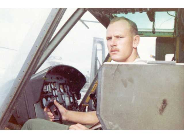 A photo taken in 1969 shows Jones inside the cockpit of the craft that helped him save countless lives.