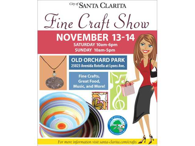 See the Fine Craft Show on Nov. 13 at 10 a.m. to 6 p.m., or Nov. 14 at 10 a.m. to 5 p.m., at Old Orchard Park.