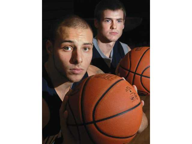 The Master's College will lean on the experience of backcourt threats Joey Fuca, left, and Leif Karlberg in 2010.