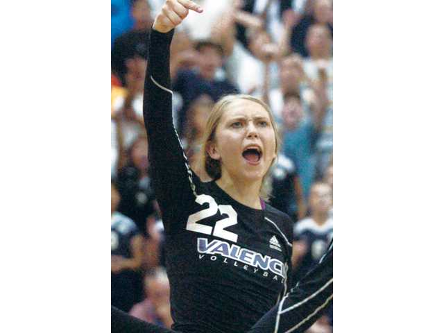 Valencia middle blocker Emily Ellias has been named the Foothill League Player of the Year, as voted by the coaches.