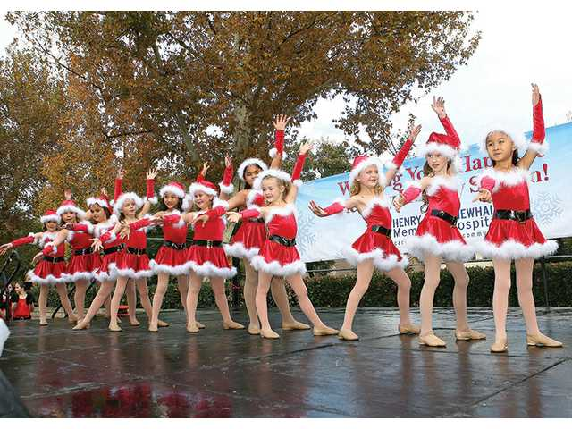 Shooting Star Dance Team performs at the event. Funds donated to sponsor tree decorations will benefit the future neonatal intensive care unit.
