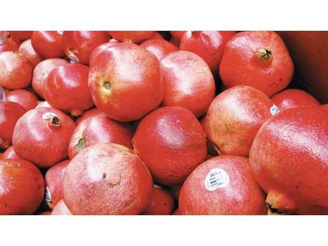 Pomegranates are available from November to January.