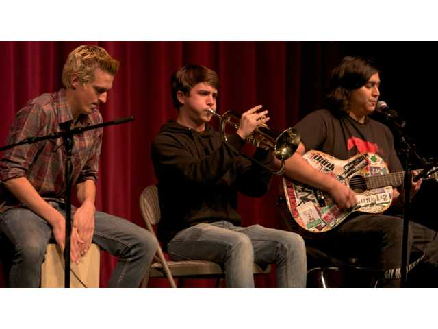 "Thomas McCarthy, Justin Beirold and Daniel Estrada of local band Zebra TV sing their song ""No More"" to cancer diagnoses across the world."
