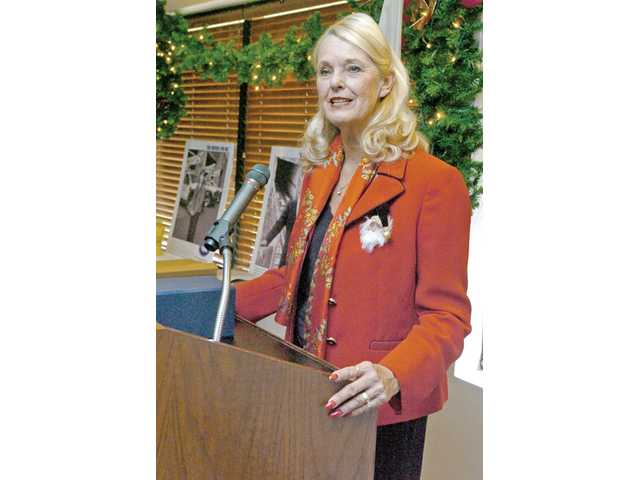 College of the Canyons Chancellor Dianne Van Hook emcees the VIA's induction ceremony Tuesday.