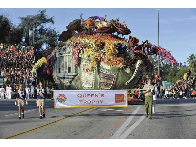 "Bayer Advanced's ""We Are the Champions"" was last year's Queen's Trophy winner at the Rose Parade. The award was given for most effective use and display of roses in concept, design and presentation."