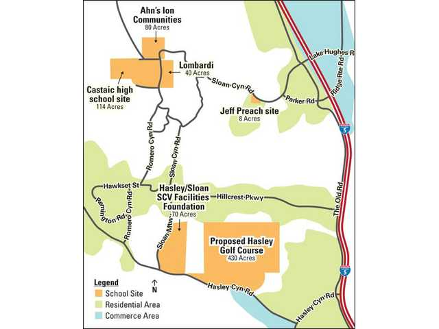 Construction of a Castaic high school on developer Larry Rasmussen's Romero Canyon property will directly affect properties around the location, providing infrastructure to the area currently remote from public services. The Ion Communities location just north or Rasmussen's was also considered for a school location, while some residents are lobbying for the nearby Lombardi property to be the site, despite the school board's decision last July.