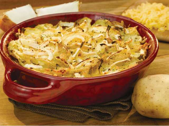 Quick and healthy potato casserole.