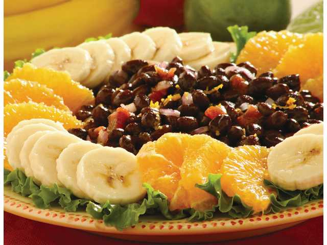 Caribbean black bean and fruit salad