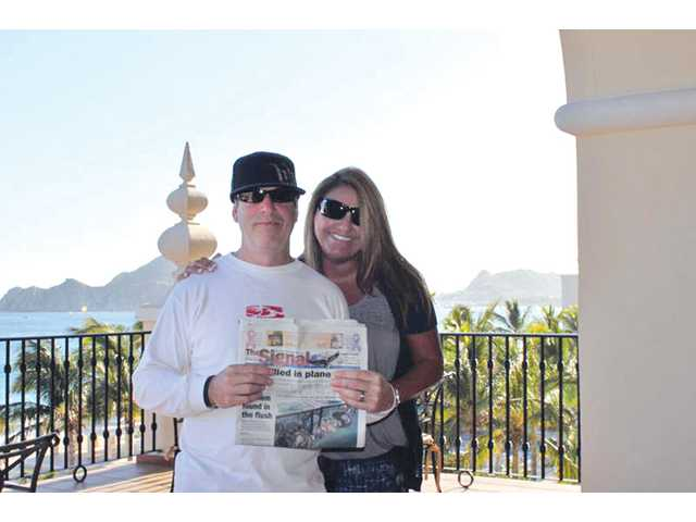 Mike and Shelly Janow at the RIU Palace in Cabo San Lucas, Mexico in October 2010.