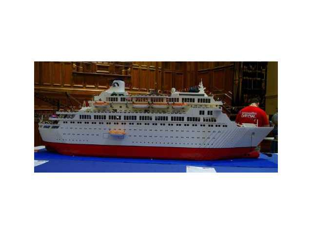A scale model of Princess Cruises' original Love Boat was created using 250,000 LEGO blocks.