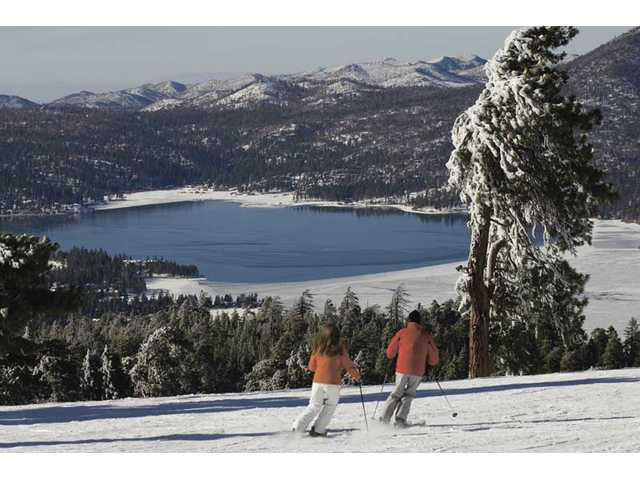 Recent storms brought plenty of snow to the Big Bear area.