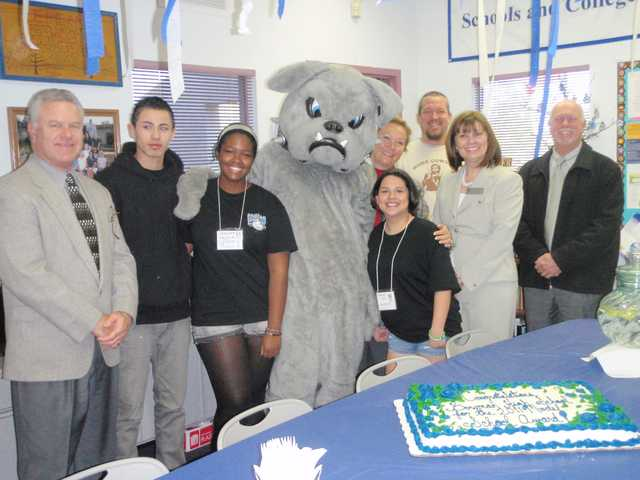 Bowman High School students and staff celebrated their school's recently awarded honor.