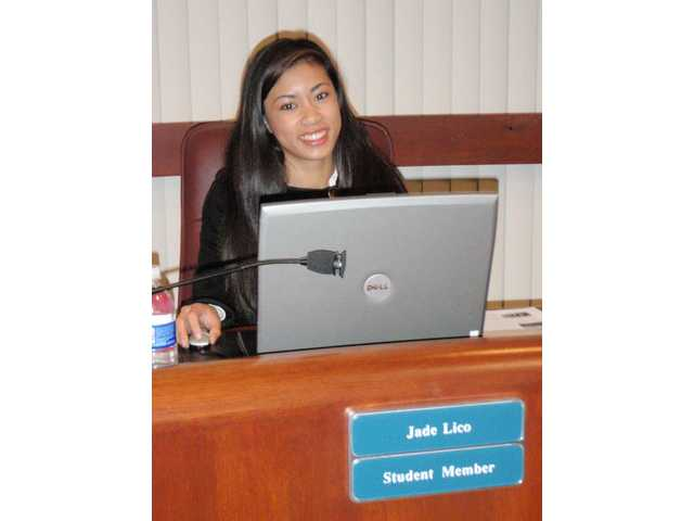 The Hart District Governing Board welcomed Valencia High School senior Jade Lico this past fall.