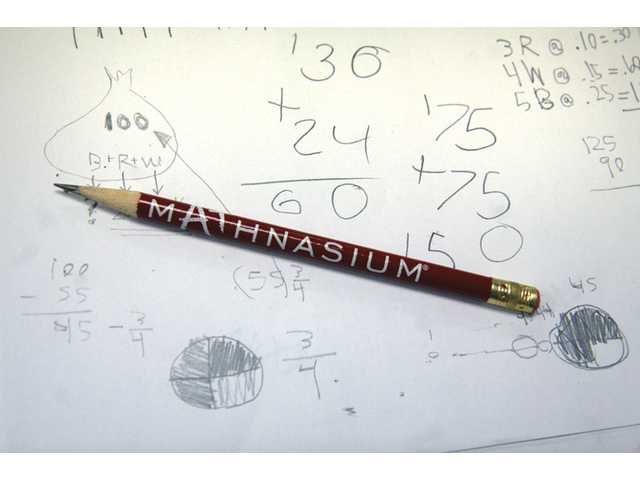 Students at Mathnasium are encouraged to work through problems until they find the solution.