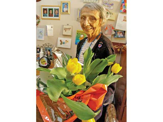 Marie Barnett, of Newhall, recently celebrated her 104th birthday.