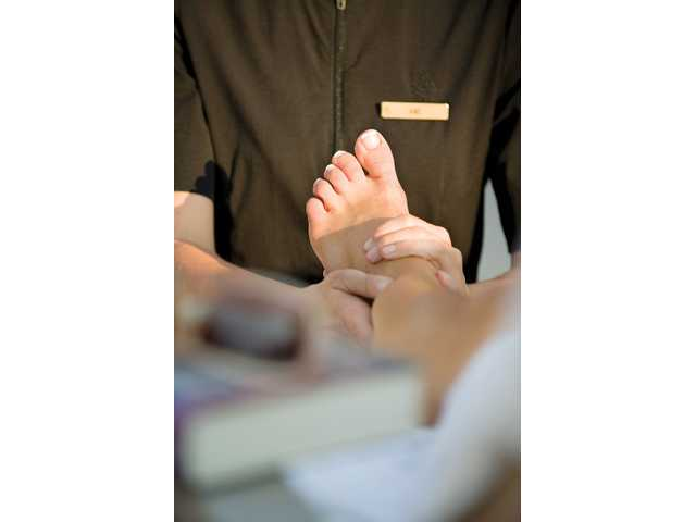 A foot massage is particularly relaxing and can be purchased as part of an overall service or a la carte.