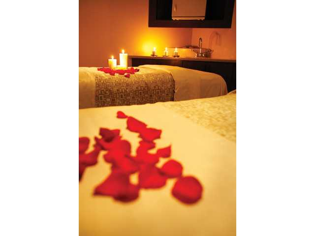 The lighting, music and mood while receiving a massage, especially when booked as a couple's outing, can lead to romance later on, according to Newhall's Spa Villa owner Mary Velek.