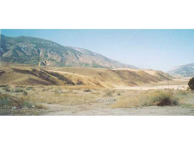 These low hills running between Lebec and Frazier Park were created by an accumulation of earthquake activity over a period of perhaps 10,000 years. They were pushed up about a foot, and slid sideways about 10 feet during the 1857 earthquake.