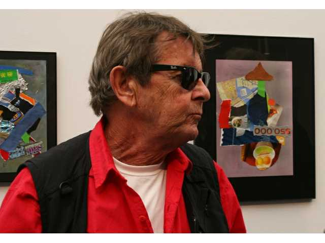 "Celebrated multi-media artist Bob Neuwirth's ""Collages"" collection is on display at the COC Gallery on the main College of the Canyons campus in Valencia, where Neuwirth was guest at an artist's reception Saturday afternoon. The exhibit runs through March 3."