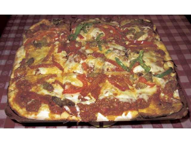Buca di Beppo's Italian Supremo Pizza.