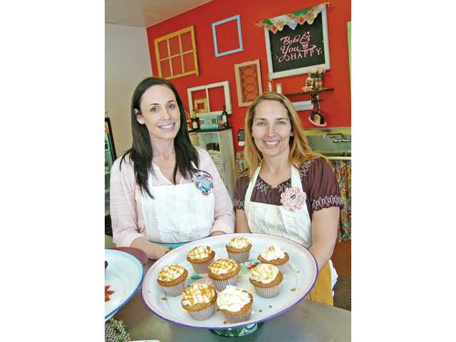 Kim Thurman, left, and Kim Aeck of Valencia's Bake You Happy.