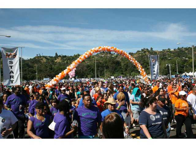 Between 5,000-6,000 people gathered for the April 2009 Walk MS fundraiser at the Rose Bowl in Pasadena. The 2011 Walk MS event there took place Sunday, April 3.