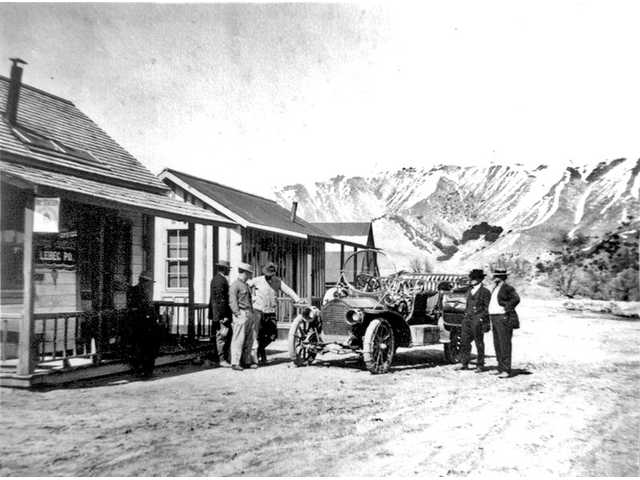 The Lebec Post Office, circa 1909. The last-known letter from J.B. Snyder was mailed from this post office in 1909.