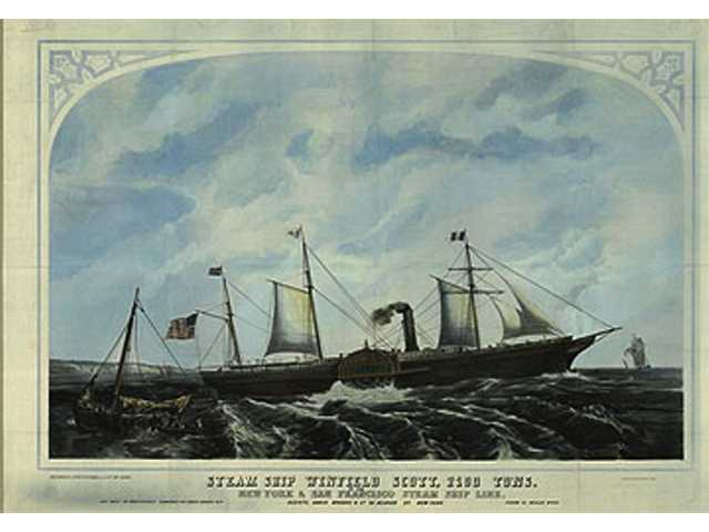 The S.S. Winfield Scott was a side-wheeler that sank off the California coast in 1853.