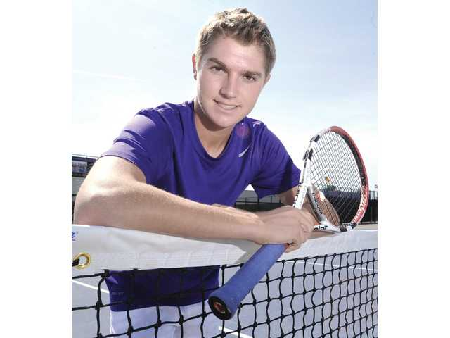 Valencia senior Tayven Townsend fell in love with tennis the first time he ever played it. In order to improve his game, he decided to join the Paseo Club as a sophomore, and now he's the No. 2 singles player for the Vikings.