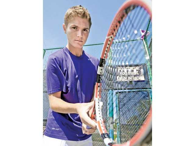Valencia High senior Tayven Townsend admits he could barely hit the ball when he was a freshman. After four years of playing club and intense training, Townsend is now the No. 2 singles player for the Vikings' varsity squad.