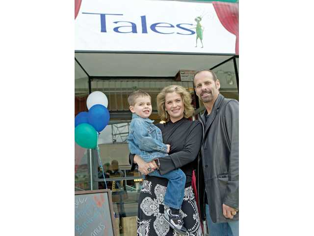Actress Kristy Swanson and Olympic skater Lloyd Eisler, who live in Saugus, with their son Magnus.