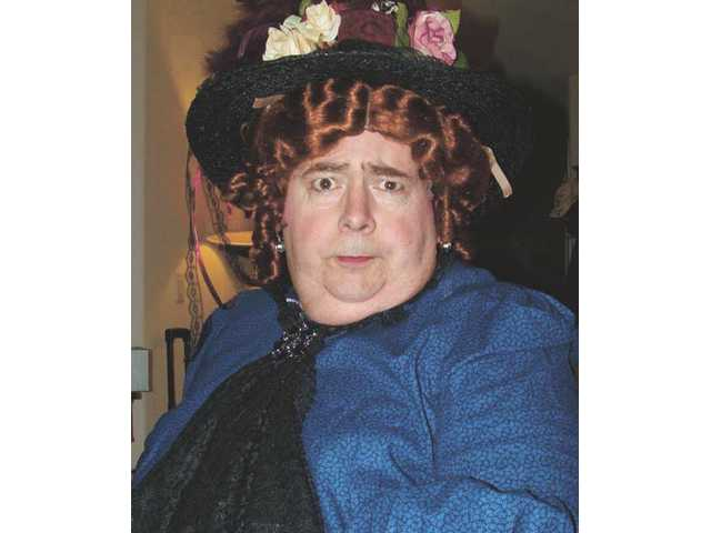 "Monte Van Fleet plays Lady Bracknell in The Upstart Crows' ""The Importance of Being Earnest."""