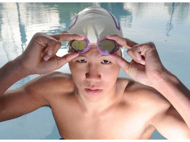 Valencia senior Stephen Haw has traditionally swam the 200- and 500-yard freestyles, but now he's swimming in other events to help the Vikings.