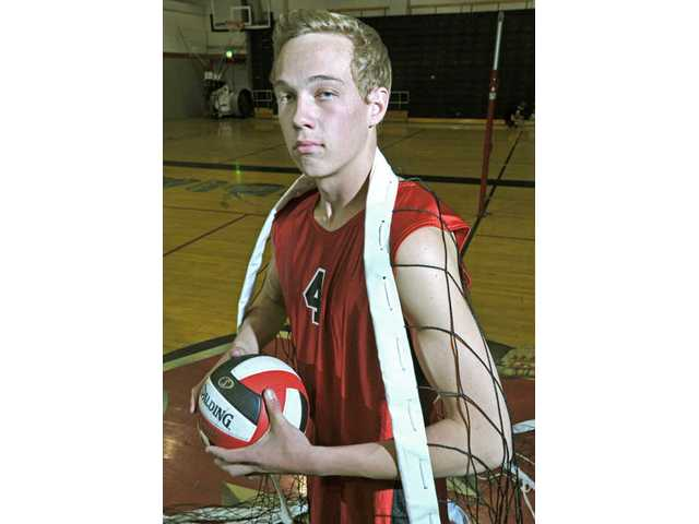 Hart senior J.J. Mosolf, a Legacy Volleyball Club participant, will play for the University of Hawaii next year. Before he leaves, however, he wants to bring Hart its first league title since 1992.