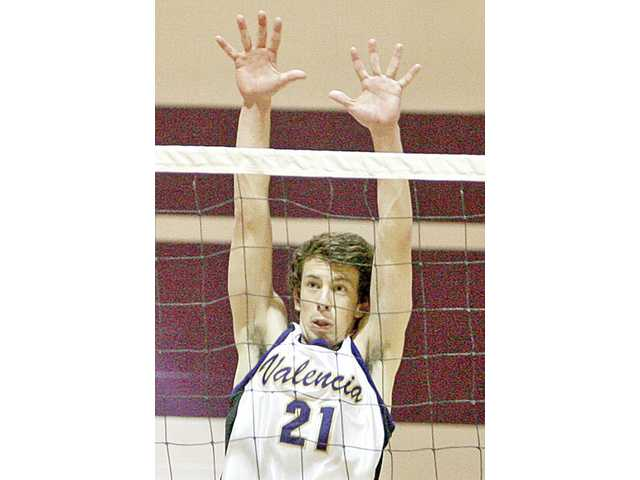 Senior Broc Oppler and Valencia will try to set the state record for most consecutive league wins in boys volleyball.