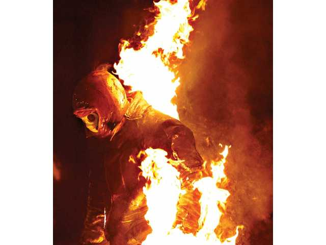 Walking into the wind was the only time stuntman Jayson Dumenigo was able to force the flames away from his face in order to breathe during his Guinness world record attempt for the longest full-body burn without oxygen. The rest of the time, he needed to hold his breath.