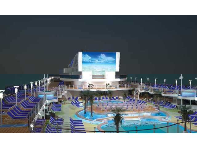 A rendition of what the entertainment deck will look like on the Royal Princess.