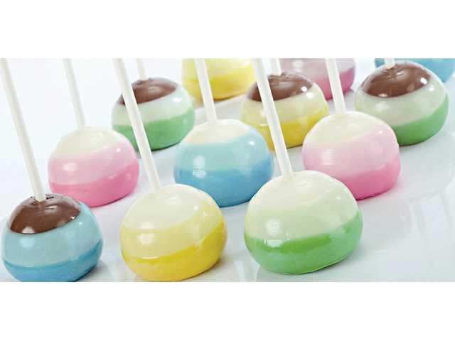 """""""Triple dipper"""" cake ball pops"""