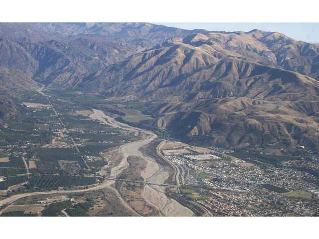 "That's the Santa Clara River that runs through the Santa Clarita Valley. Well, it ""runs"" seasonally, anyway."