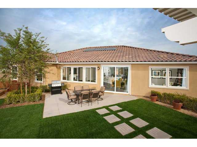 The KB Home courtesy photo shows its Newbury model home at the its Enclave community in Eastvale.