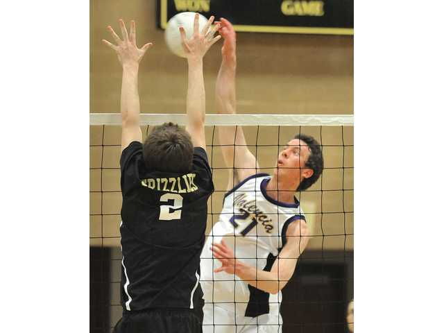 Valencia senior outside hitter Broc Oppler (21) has become of the top players in the Foothill League, already tallying 32 kills in two league matches. This after a stomach ailment nearly sidelined him for the second half of the 2010 season.