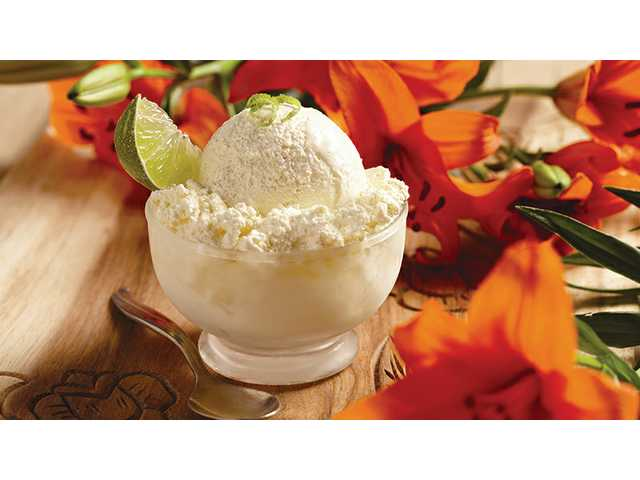 Caribbean pineapple-lime ice cream