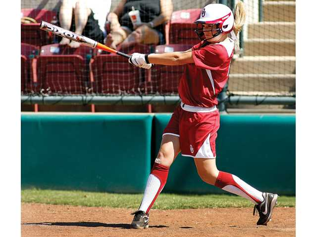 Oklahoma catcher Jessica Shults, a Hart High graduate, has a Big 12 Conference-leading 18 home runs on the season. The mark is only two shy of the Sooners' season record.