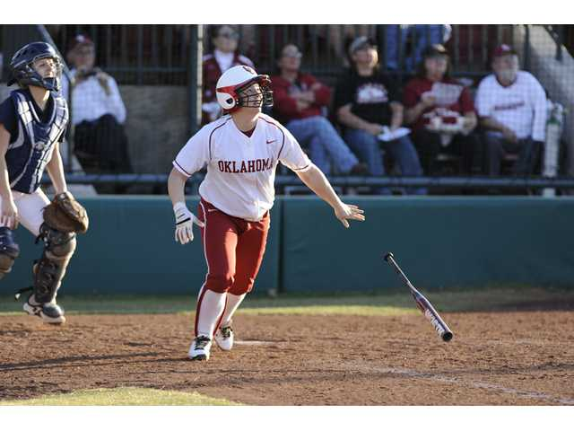 Oklahoma left fielder Brittany Williams, a Canyon High graduate, leads the Big 12 Conference with 38 walks so far this season.