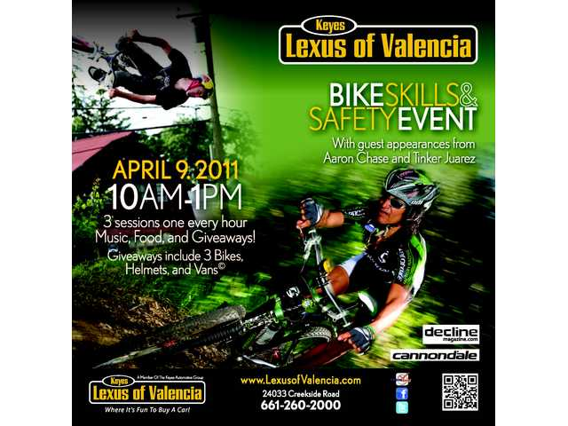 Here's a flier for Saturday's bicycle skills and safety event at Keyes Lexus of Valencia on Saturday morning.