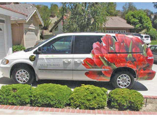 Local florist Blooming Affairs delivers in its trademark vehicle on its daily round of deliveries to residents, hospitals, mortuaries, studios. The florist also provides arrangements for weddings and baby showers and any party event.