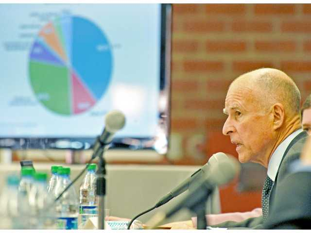 Jerry Brown visits SCV to rally for tax extension