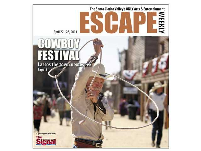 Dave Thornbury shows his roping skills as he makes his way down Main Street during a previous Cowboy Festival.